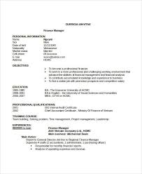 Resume Templates In Word Format Finance Resumes 23 Free Ms Word Format Download Free