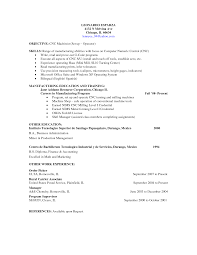 awesome collection of machinist resume cover letter sample with