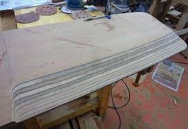 building a scamp sailboat making centerboard blank and shaping it