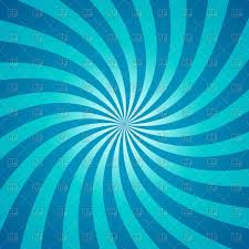 blue swirling radial pattern background vector clipart image