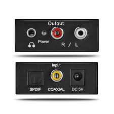 home theater with spdif input digital to analog audio converter optical coaxial toslink to rca