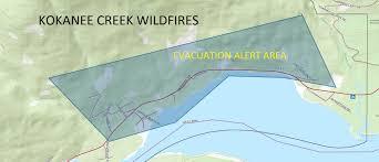 Wildfire Bc Map 2015 by Evacuation Alert Evacuation Alert Kokanee Creek Wildfire
