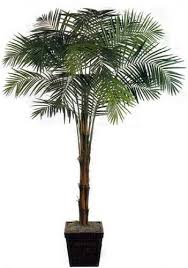 artificial house plants 8 foot areca palm bushy top artificial tree