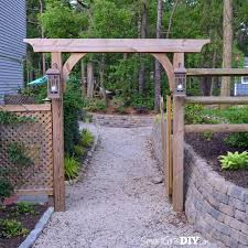 Backyard Arbor Ideas Diy Garden Arbor