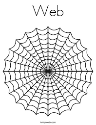 Web Coloring Page Twisty Noodle Spider Web Coloring Page
