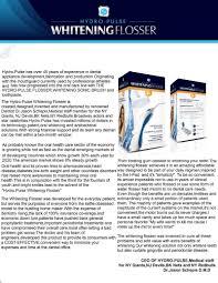Dentist Description Hydro Pulse Whitening Flosser