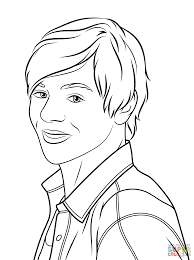 austin moon coloring page free printable coloring pages