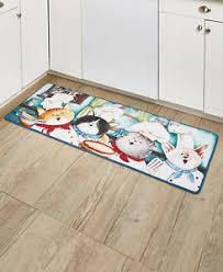 Kitchen Floor Runner by Whimsical Kitty Meow Floor Runner Playful Chef Furry Dogs Kitchen