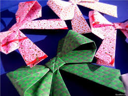 paper gift bows how to origami paper gift bows