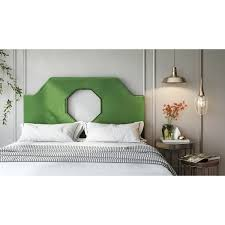 Velvet King Headboard Noctis Green Velvet King Headboard Free Shipping Today