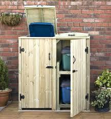 Trash Can Storage Cabinet Storage Bins Outdoor Wooden Garbage Storage Bin Can Plans Bins
