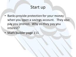 business math 3 6 savings account ppt