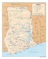 Africas Map by Ghana In Africa
