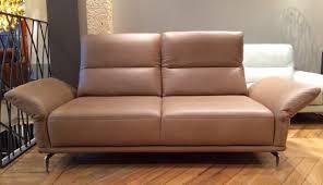 canapé en cuir marron canapé cuir marron dossier haut atom t design prix promo