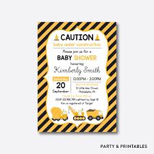 construction baby shower construction baby shower invitation personalized sbs 32