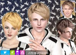 sims 3 men custom content my sims 3 blog newsea heartquake hair for males females sims 3
