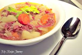 my recipe journey a soup from leftover corned beef and cabbage