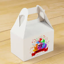 Favors For 75th Birthday by Happy Birthday Favor Boxes Zazzle