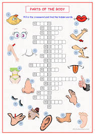 thanksgiving crossword puzzle printable 119 free esl parts of the body worksheets