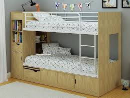 Platinum Storage Bunk Beds In Oak - Funky bunk beds uk
