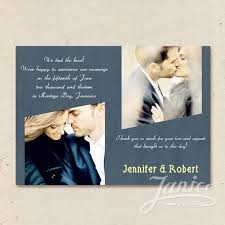 wedding announcement cards dusty blue two photos wedding announcements cards wfa005 wfa005