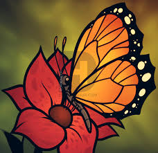 butterfly flower how to draw a butterfly on a flower butterfly and flower step by