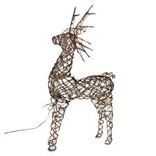 animated grapevine deer decoration