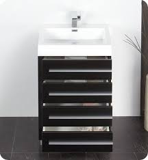 Bathroom Vanity Medicine Cabinet by 23 5 U201d Fresca Livello Fvn8024bw Black Modern Bathroom Vanity W
