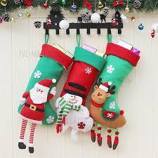3pcs pack hanging christmas stocking sock xmas tree decoration