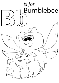 Letter B Is For Bumblebee Coloring Page Free Printable Coloring Bumblebee Coloring Pages