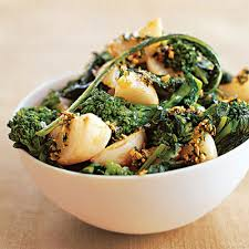 turnips and broccoli rabe with parsley vegetable side dish recipes
