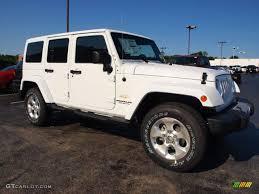 toyota jeep white bright white 2013 jeep wrangler unlimited sahara 4x4 exterior
