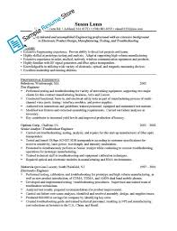 Manufacturing Experience Resume Flight Test Engineer Sample Resume What Is An Application Cover