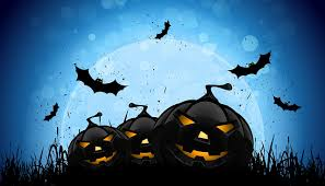 bats pumpkin halloween moon holidays vector graphics