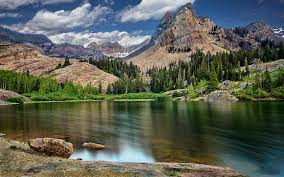 Mountains Lake In Mountains Hd 10048 Wall Paper