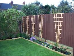 wall trellis design trellis idea for clematis along back and maybe side fences mix