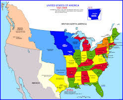Map Of The Usa States by Map Of The United States 18151845 Fileunited States Central Map