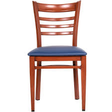 Orange Chair by Lancaster Table U0026 Seating Spartan Series Metal Ladder Back Chair