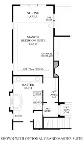 Master Bedroom Suite Floor Plans Toll Brothers At Inspiration Boulder Collection The Antero