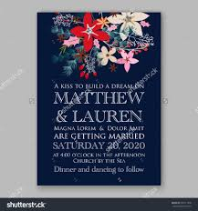 wedding invitation card template with winter bridal bouquet