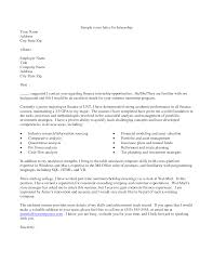 glamorous samples of cover letter for internship 76 for your