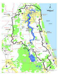Florida On Map by 1 Background Of The Lower St Johns River Basin State Of The