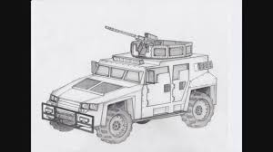 humvee drawing how to draw an armored assault vehicle concept sketch youtube