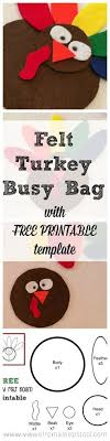 felt turkey pattern free crafts do the same as with the