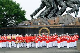black friday marines marine corps sunset parade at the iwo jima memorial 2017