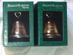 2003 2004 reed u0026 barton silver plate christmas bell ornaments w bx