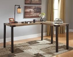 Corner Desk For Two H209 24 Dexifield Rustic Look Two Tone Home Office Corner Desk
