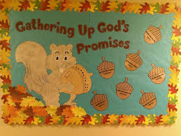 squirrel bulletin board bible verses lessons