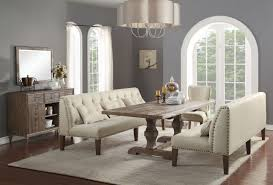 Dining Room Sets Dallas Tx Acme Inverness 6 Piece Double Pedestal Dining Set In Salvage Oak