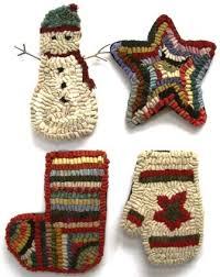 primitive ornament rug hookings hooked rugs